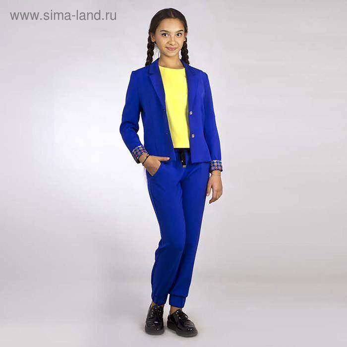 Жакет для девочки, цвет синий, рост 164 см (80) (арт. 16В1-ЖАД149-10)