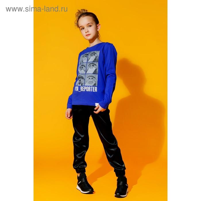 Брюки для девочки, цвет чёрный, рост 158 см (80) (арт. 16Н1-БРД096-01)