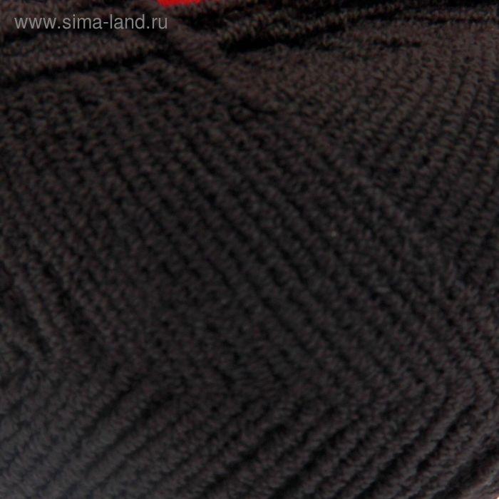 "Пряжа ""Бамбук стрейч"" 98% бамбук, 2% лайкра 260м/50гр (003 черный)"