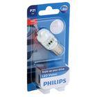 Лампа автомобильная Philips, P21W, 12 В, 21 Вт, (BA15s), LED, красная