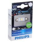 Лампа автомобильная Philips, C5W, 12 В, 1 Вт, 4000 K, 43 мм