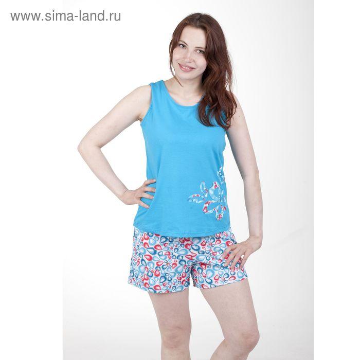 Пижама женская 5512 белый/бон-бон/прохлада, р-р 50 (100-106)