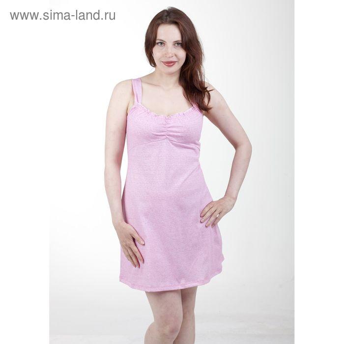 Сорочка женская, цвет белый/светло-розовый, размер 52 (арт. 1126-1)