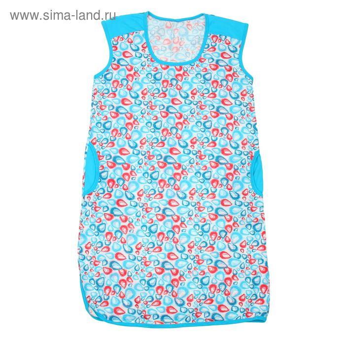 Туника женская, цвет белый/голубой, рост 164 см, размер 54 (арт. 5317)