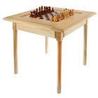 Шахматный стол (72х72х72 см, фигуры дерево, игровое поле 36х36 см, король h=11.5 см)