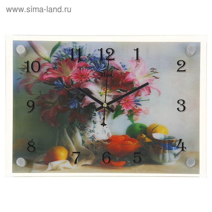 """Часы настенные прямоугольные """"Сладкий стол"""", 25х35 см"""