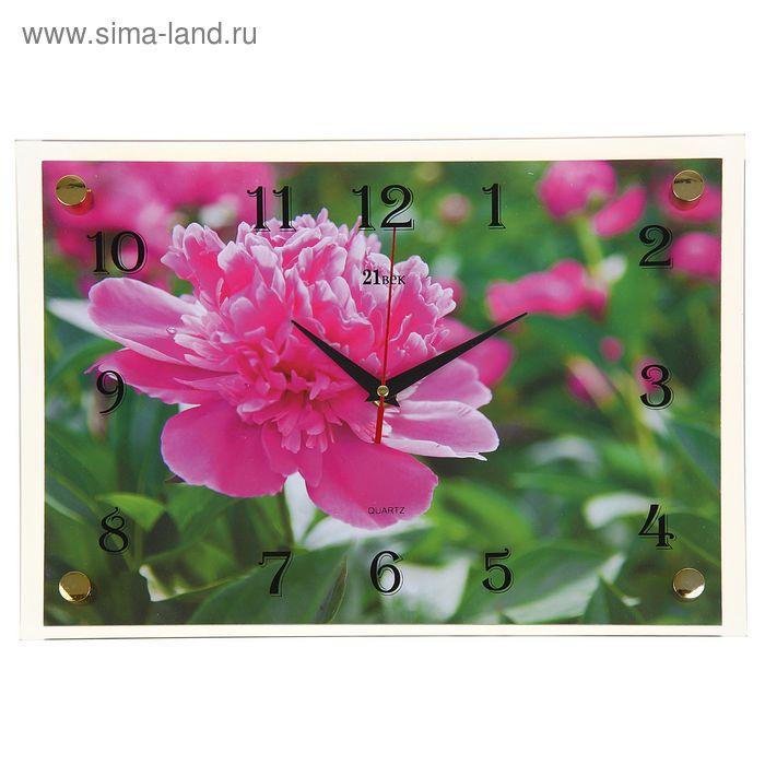"""Часы настенные прямоугольные """"Полевой цветок"""", 25х35 см"""