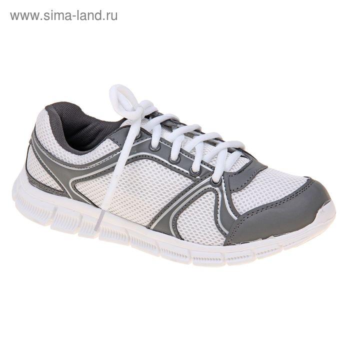 Кроссовки женские, цвет белый/серый, размер 40 (арт. LSW 0026-2-6)
