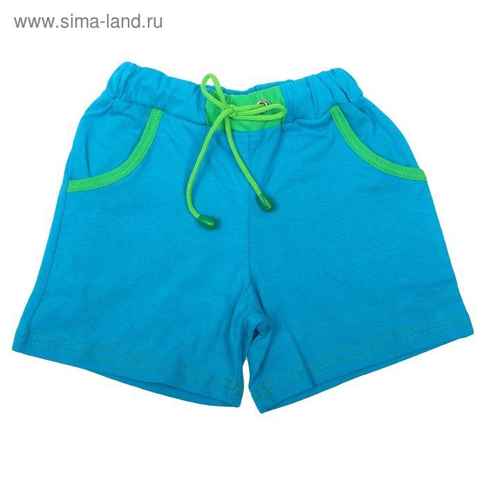 Шорты для мальчика, рост 116 см, цвет бирюзовый/зелёный (арт. К-070)