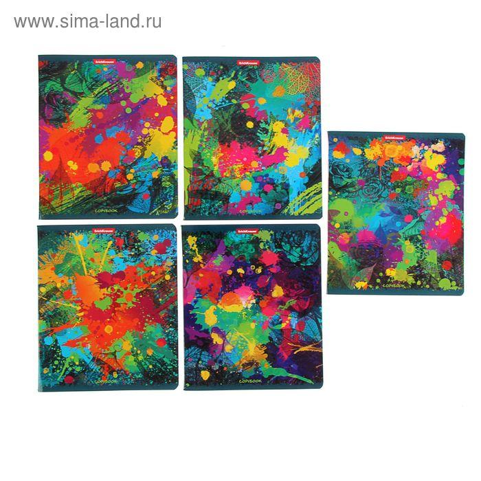 Тетрадь 96 листов клетка Jazz-band of colors, картонная обложка, ламинация глянцевая, МИКС, EK 40096