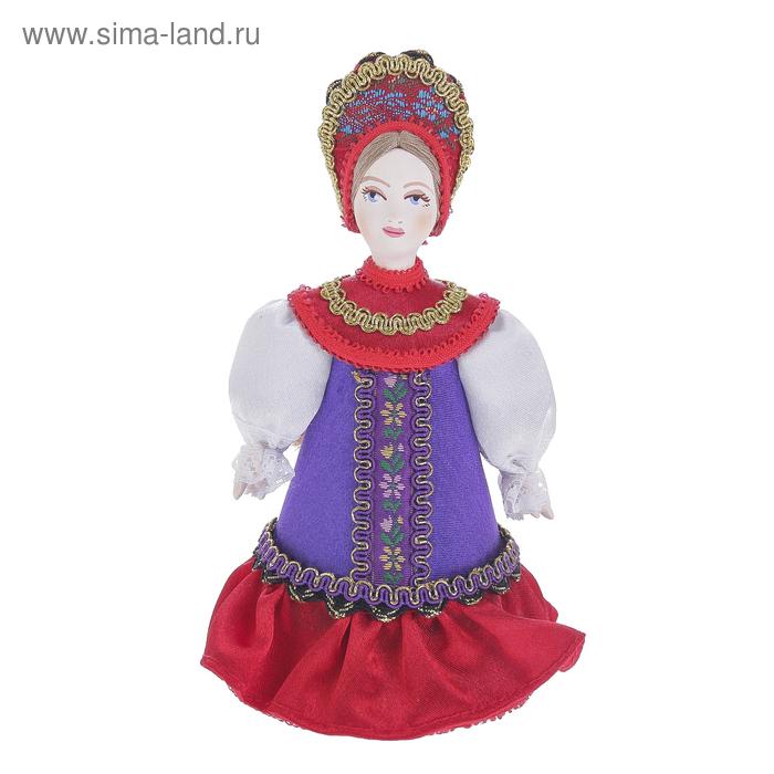 """Сувенирная кукла """"Девушка в традиционном костюме"""" к. 19 — н. 20 в. Россия"""
