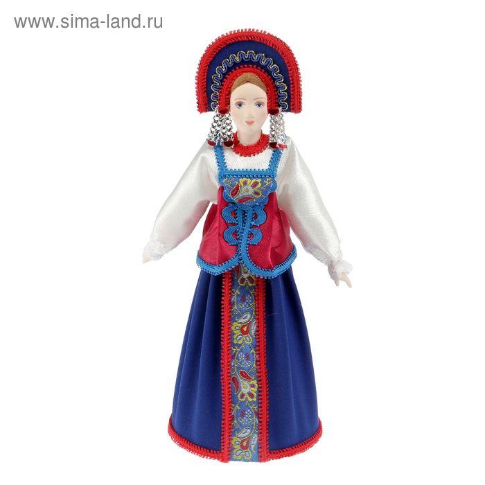 Сувенирная кукла в девичьем праздн. костюме Нижегородской губ. Россия