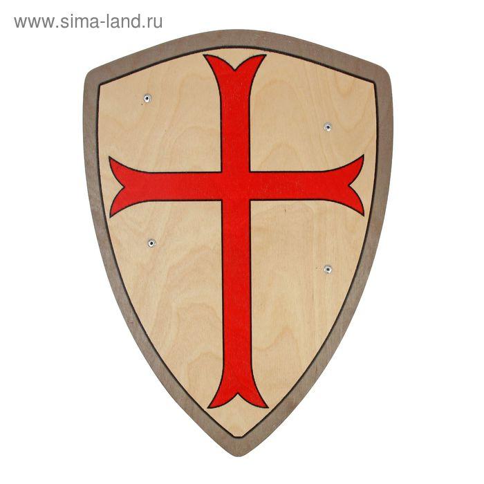 Деревянный щит «Щит Тамплиера»