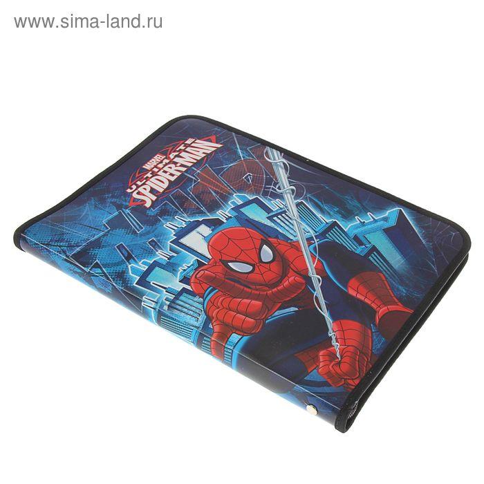 Папка для труда А4 молния вокруг откидная планка, пластик, Disney Spiderman