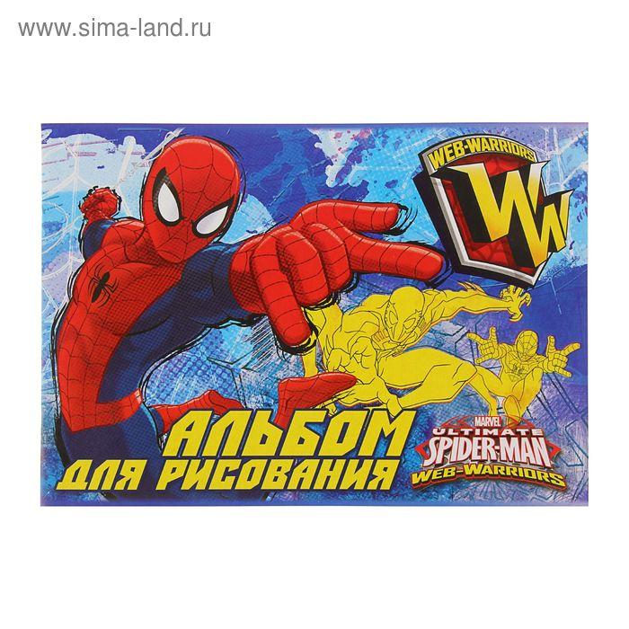 Альбом для рисования А4, 20 листов на скрепке Spiderman, выборочный УФ-лак, фольга