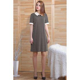Платье, размер 50, рост 164 см, цвет чёрно-белый (арт. 4752 С+)