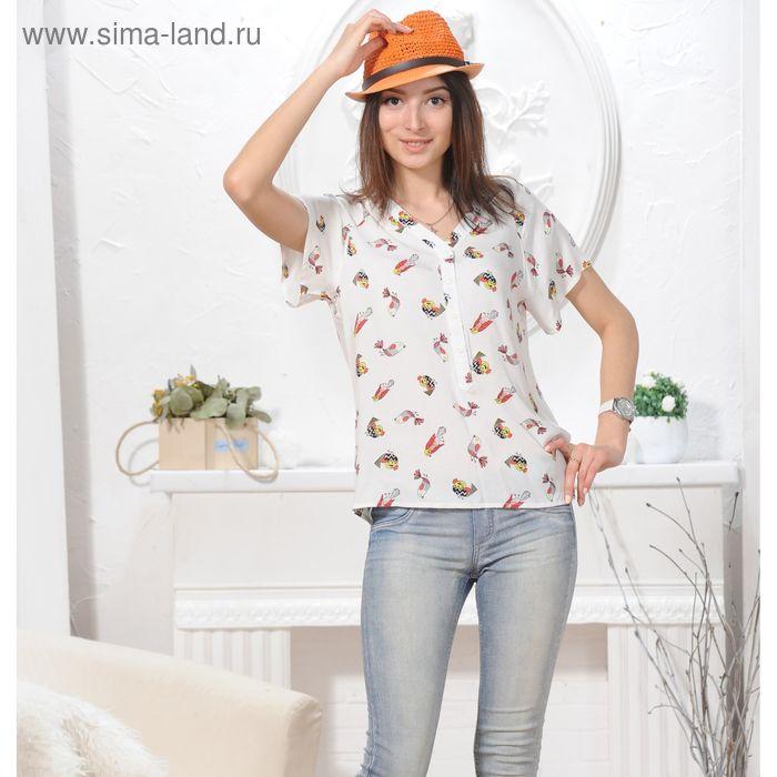 Блуза, размер 50, рост 164 см, цвет белый (арт. 4844 С+)
