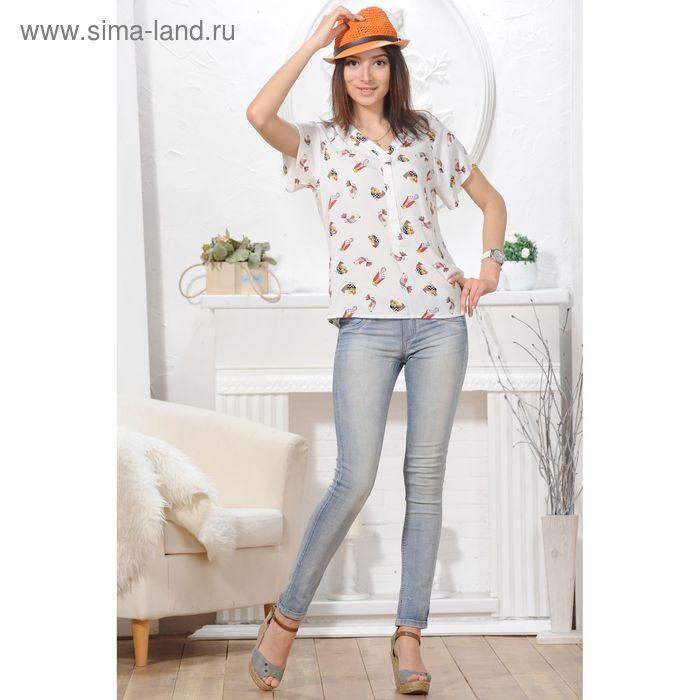 Блуза, размер 52, рост 164 см, цвет белый (арт. 4844 С+)