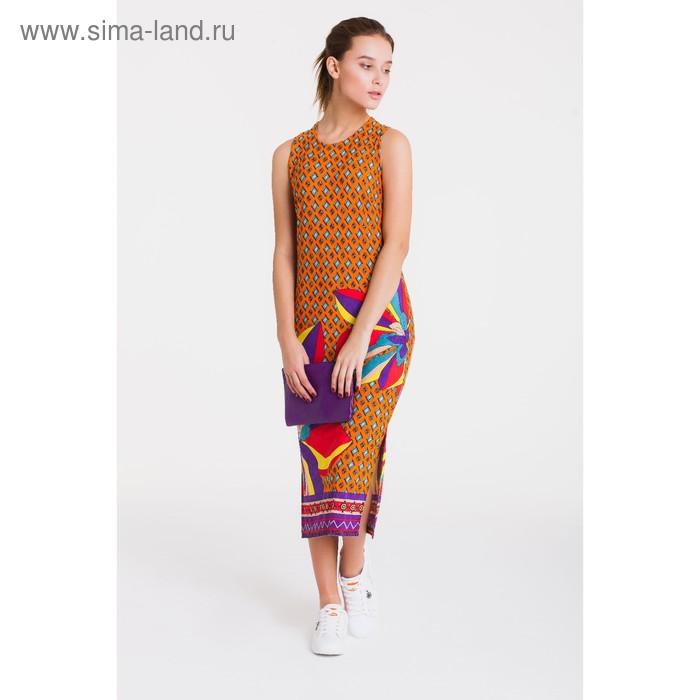 Платье 4758, размер 48, рост 164 см, цвет оранжевый