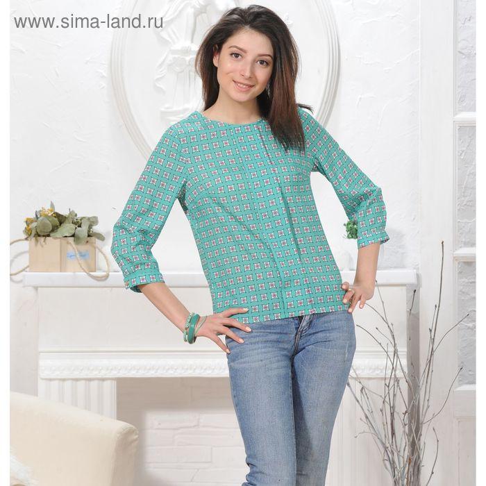 Блуза, размер 50, рост 164 см, цвет зелёный (арт. 4836 С+)