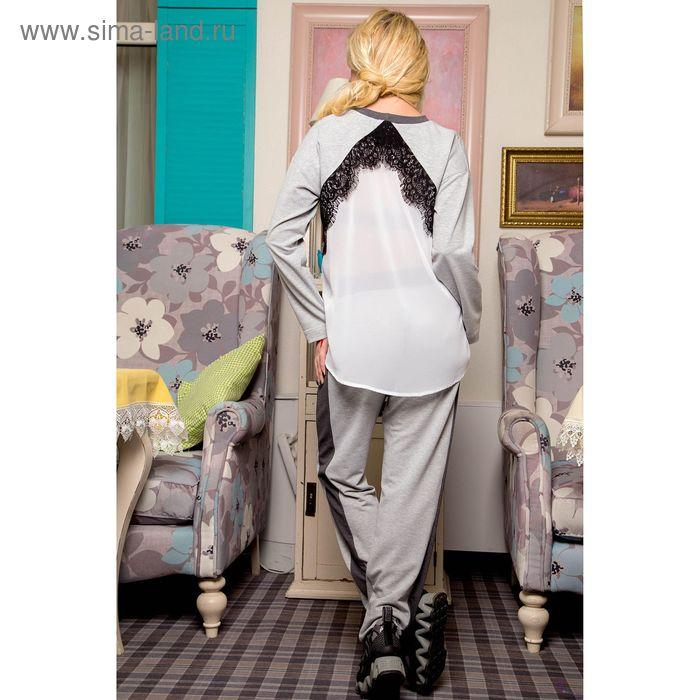 Костюм женский, цвет серый, рост 168 см, размер XXL (50) (арт. 75038 С+)