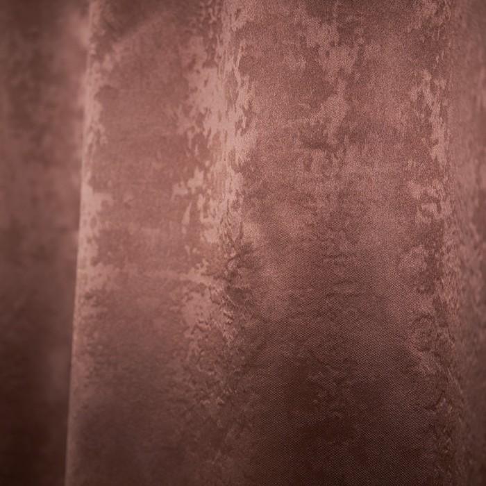 """Штора портьерная """"Элегия"""", размер 135х260 см-1шт., цвет шоколад"""