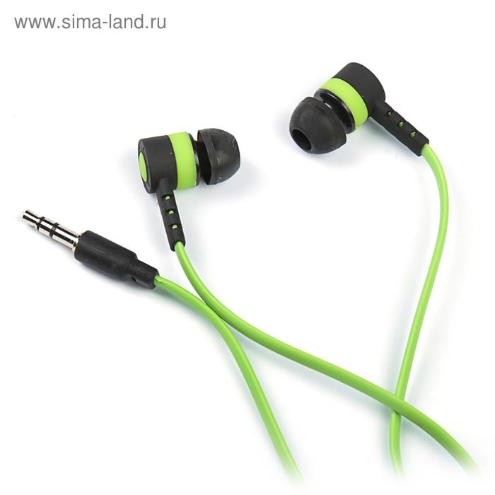 """Наушники Luazon LV-P-116 """"Лого"""", вакуумные, зелёно-чёрные"""