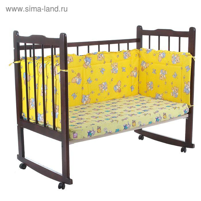 """Бортик """"За мёдом"""", 4 части (2 части: 43х60 см, 2 части: 43х120 см), цвет жёлтый (арт. 10111)"""