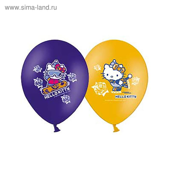 "Шар латексный 14"" Hello Kitty ICE, набор 25 шт., цвета МИКС"