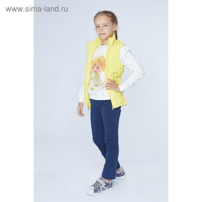 """Жилет для девочки """"Резинка"""", рост 122 см, цвет жёлтый"""