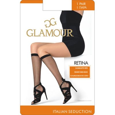 Гольфы женские Glamour Collant Retina, сетка, цвет nero (чёрный)