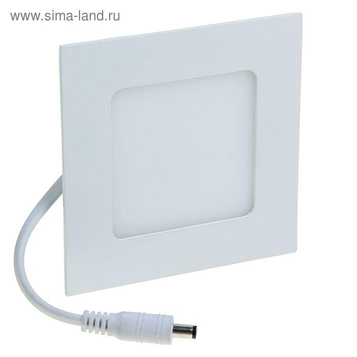LED Панель, накладная без прищепок 110*110 мм, 4 W, 20 LED-2835, 3000-3500 K, 290 Lm УЦЕНКА