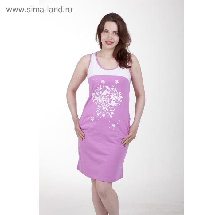 Платье женское, цвет розовый, размер 52 (арт. PK2385/01)