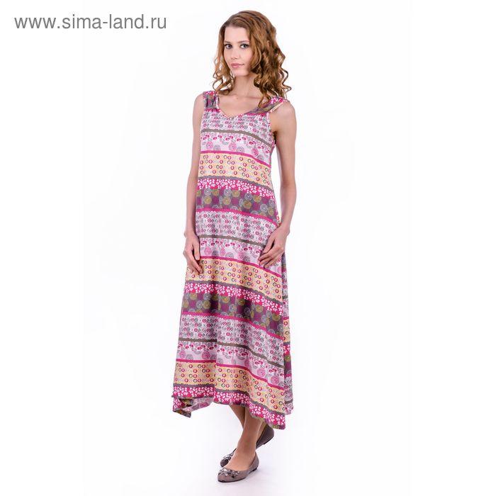 """Платье женское """"Вероника"""", цвет розовый, размер 46 (арт. MK2565/01)"""