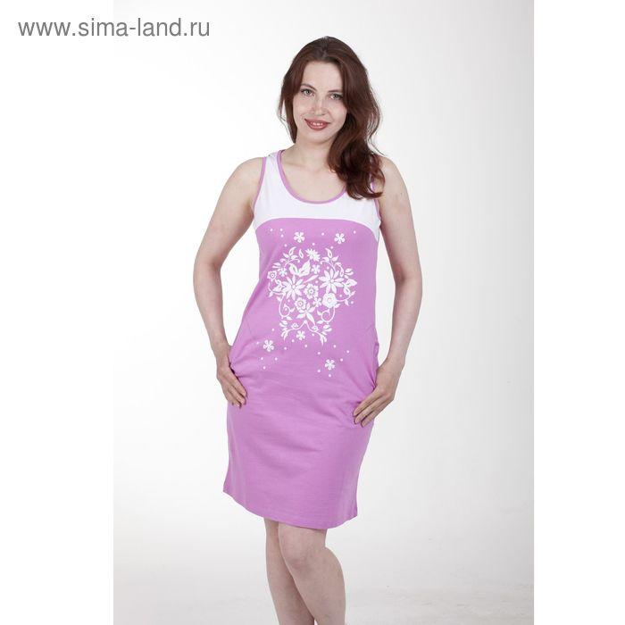 Платье женское, цвет розовый, размер 46 (арт. PK2385/01)
