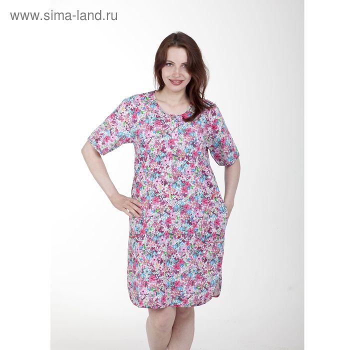 Туника женская, цвет розовый, размер 52 (арт. PK603/02-08)