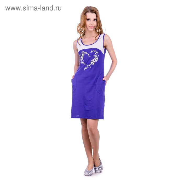 Платье женское, цвет васильковый, размер 48 (арт. PK2385/01)