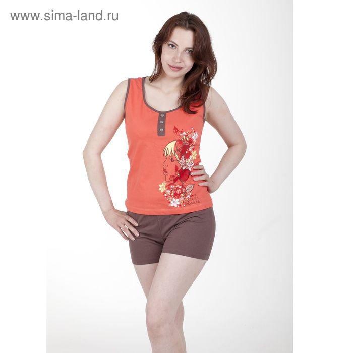 Комплект женский, цвет персиковый, размер 48 (арт. PK2384/01)