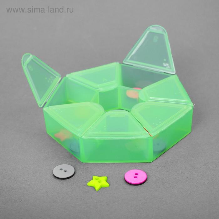 Контейнер для бисера, 9,1х2,1см, цвет салатовый