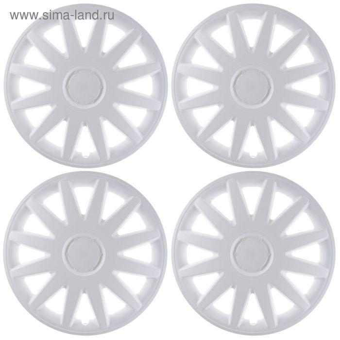 """Колпаки колесные R16 """"Дакар"""", белые, набор 4 шт."""