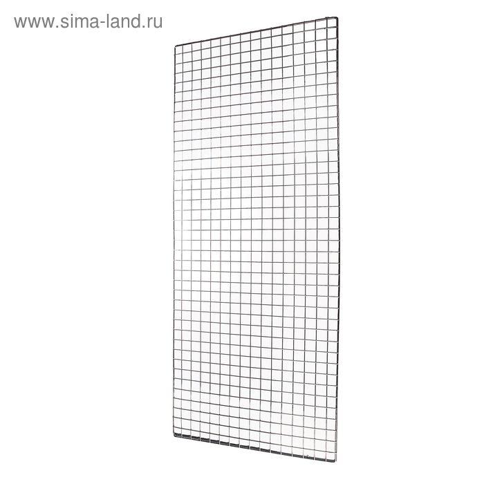 Сетка торговая 100*200, окантовка 8мм, пруток - 4мм, хром (порошковое покрытие)