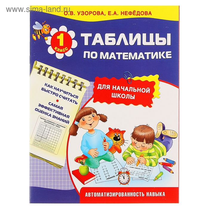 Таблицы по математике для начальной школы. Автор: Узорова О.В.