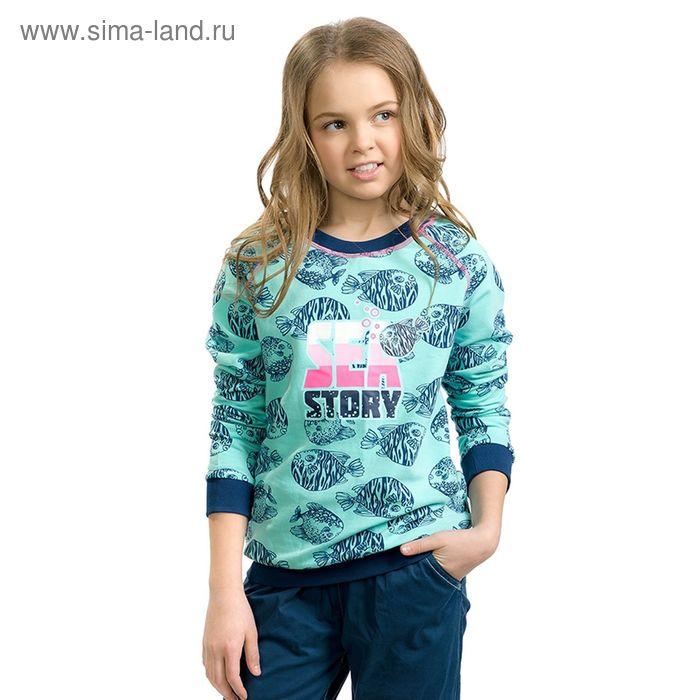 Толстовка для девочек, рост 140-146 см, возраст 10 лет, цвет нежно-голубой (арт. GJR491/1)