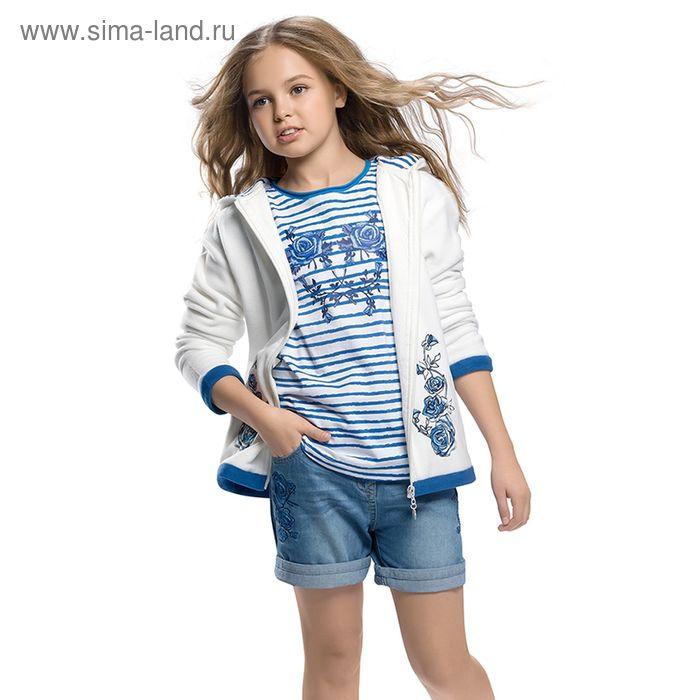 Шорты для девочек, рост 164 см, возраст 14 лет, цвет белый (арт. GWH589)