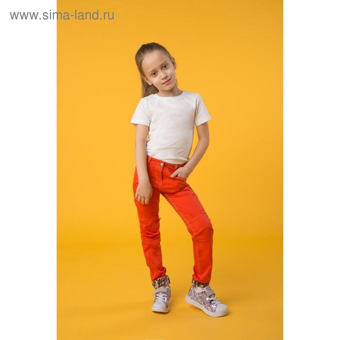 Брюки для девочек, рост 128-134 см, возраст 8 лет, цвет красный (арт. GWP492)