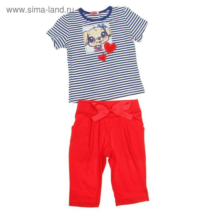 Комплект для девочек (футболка + бриджи), рост 92-98 см, возраст 2 года, цвет голубой (арт. GATB372)