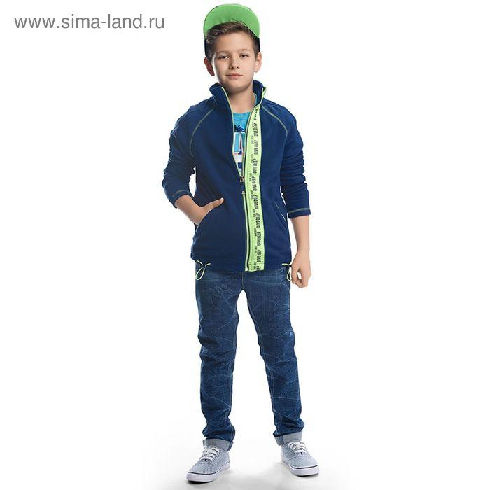 Брюки для мальчиков, рост 152-158 см, возраст 12 лет, цвет голубой (арт. BWP567)