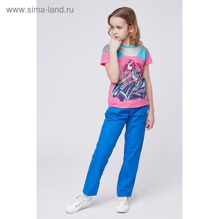 Футболка для девочки, рост 140-146 см, цвет розовый GMT488_Д