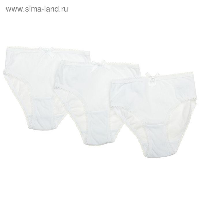 Комплект трусов для девочек 3 шт, возраст 6 лет, цвет белый (арт. GUN01(6-11))
