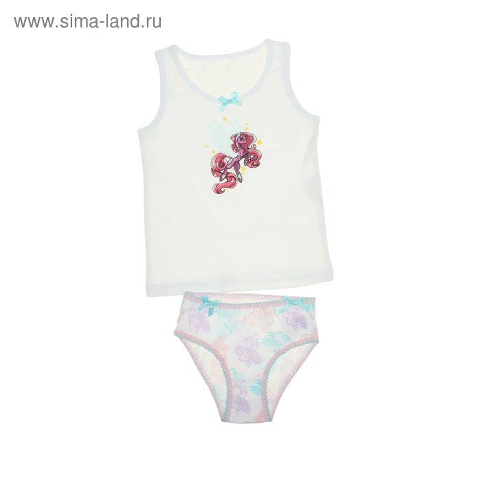Комплект для девочек (майка + трусы), возраст 2 года, цвет белый (арт. GUA384)